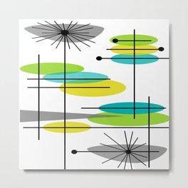 Mid-Century Modern Atomic Design Metal Print