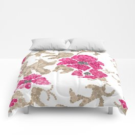 Pointillism. Flowers Comforters