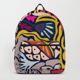Playful flowers illustration Backpack