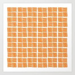 Gate number one in burnt orange Art Print