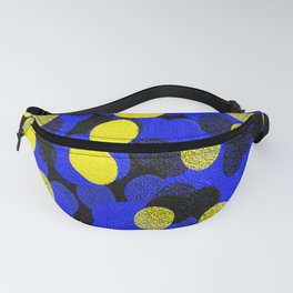 Yellow, Black, and Blue Fanny Pack