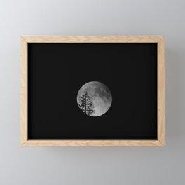 Super Moon Rising Framed Mini Art Print