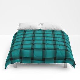 Large Dark Cyan Weave Comforters