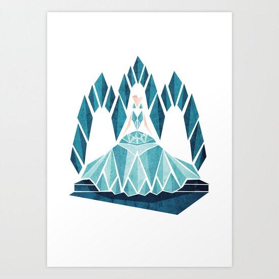 Waiting ( The Snow Queen ) Art Print