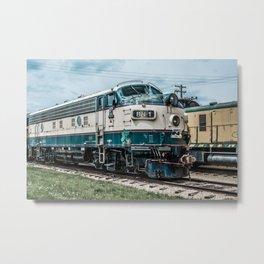 BN-1 EMD Diesel Electro Motive Train Locomotive Vintage Railroad Engine Metal Print