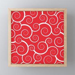 Spiral Waves (Red) Framed Mini Art Print
