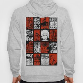 RED & WHITE - A nne Frankenstein Book I - Resurrection Hoody