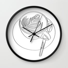 """ Kitchen Collection "" - Cappuccino Design Wall Clock"