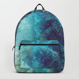 Watercolor Human Impact, Trash 12, Net Backpack