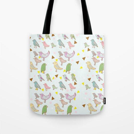 Bird Pattern Tote Bag