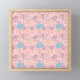 Shabby Chic Floral Your Pink Framed Mini Art Print