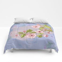 Colored Sketch of Sakura Branch Comforters