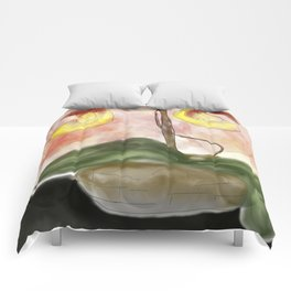 lady slipper orchid Comforters