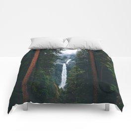 Yosemite Falls - Yosemite National Park, California Comforters