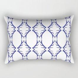 Modern Antler:  Blue Rectangular Pillow