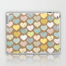 hearts pattern Laptop & iPad Skin