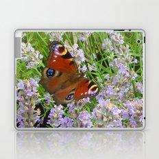 A Peacock Butterfly On A Laveder Bush Laptop & iPad Skin