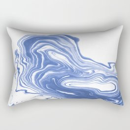 Tomo - wave water ocean sea abstract spilled ink watercolor painting marble paper marbling Rectangular Pillow
