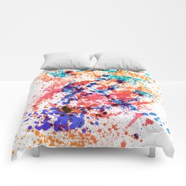 Wild Style - Abstract Splatter Style Comforters