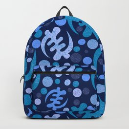 Gye Nyame- shades of blue Backpack
