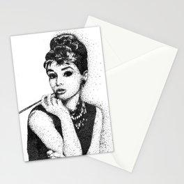 Aubrey Hepburn (Pointillism) Stationery Cards