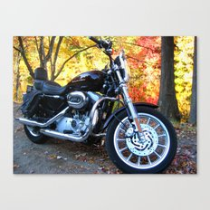 Sportster in Fall Canvas Print