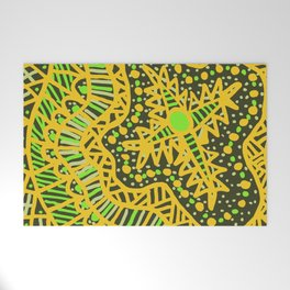 Doodle 16 Yellow Welcome Mat