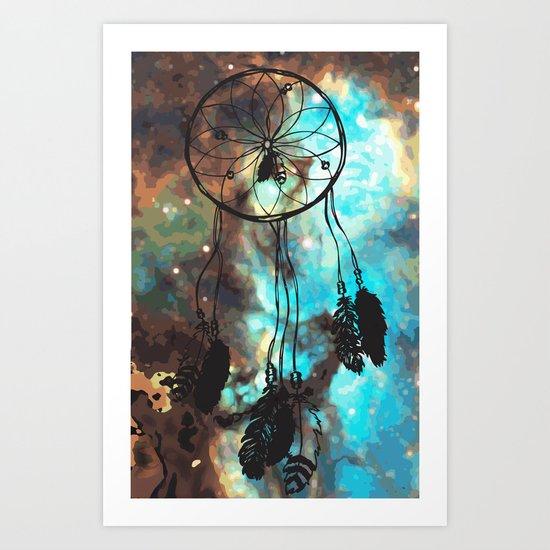 Dreamcatcher (blue) Art Print