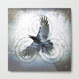 Raven III Metal Print