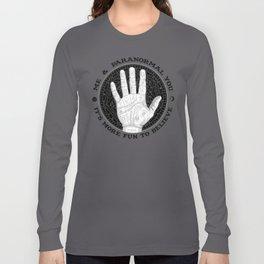 Me & Paranormal You - James Roper Design - Palmistry B&W (black lettering) Long Sleeve T-shirt