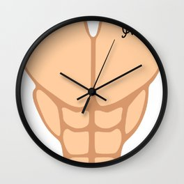 Six Pack I'm 51th Birthday Funny Men Wall Clock
