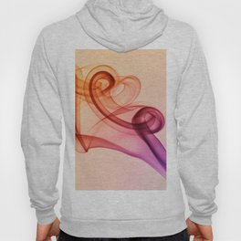 Smoke composition in warm tones Hoody
