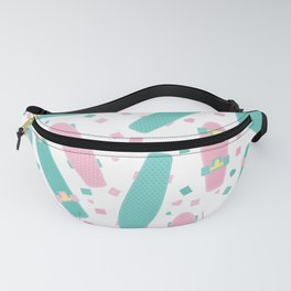 Pastel Skateboards Pattern Fanny Pack