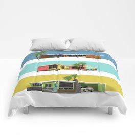 Mid Century Modern Houses 2 Comforters