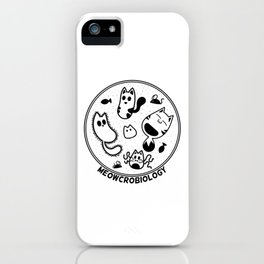 Meowcrobiology iPhone Case