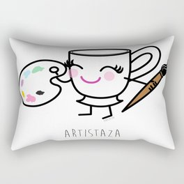 Artistaza - Artist cup Rectangular Pillow