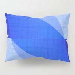 Lapis Lazuli Shapes - Cobalt Blue Abstract Pillow Sham