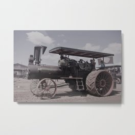 Antique Case Tractor Metal Print