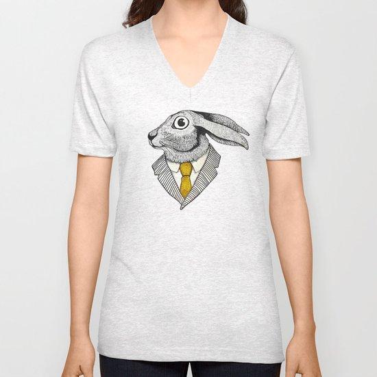 El conejo careta Unisex V-Neck