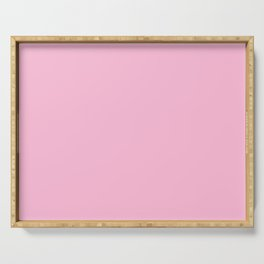 From The Crayon Box – Cotton Candy Pink - Pastel Pink Solid Color Serving Tray