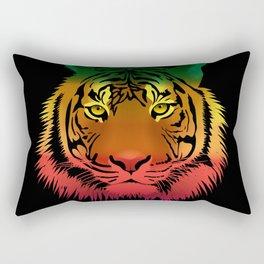 Jamaican Flag Tiger Rectangular Pillow