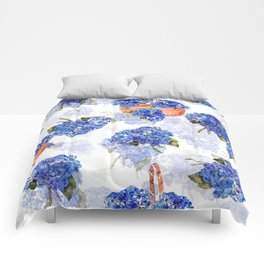 Cape Cod Hydrangeas and Baskets Comforters