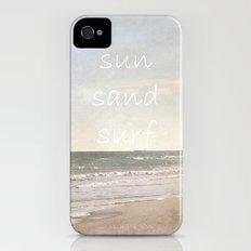 sun, sand, surf iPhone (4, 4s) Slim Case