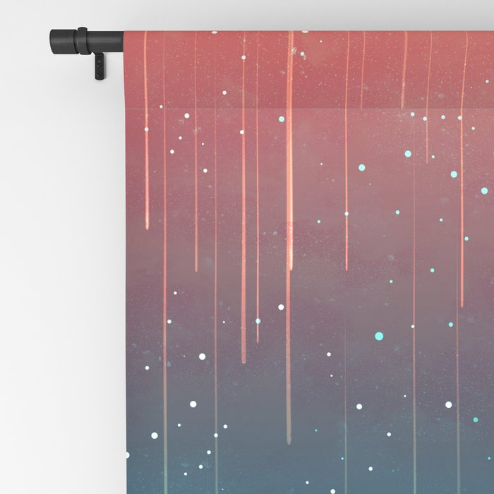 Meteor Rain (light version) Blackout Curtain