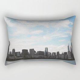 City Swept Rectangular Pillow