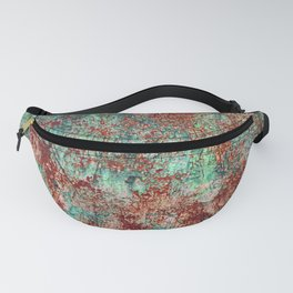 Abstract Rust on Turquoise Painting Fanny Pack
