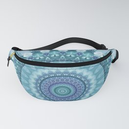 Turquoise and Navy Mandala Fanny Pack