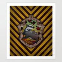 Hogwarts House Crest - Hufflepuff Art Print
