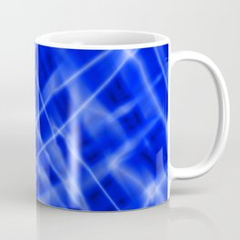 Pastel metal mesh with blue intersecting diagonal lines and stripes. Coffee Mug