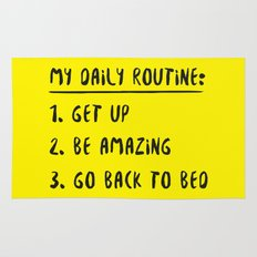 My Daily Routine Rug